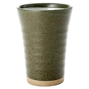 日本 千段湯吞杯 綠色 300ml