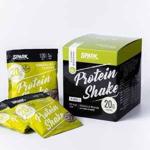 Spark Shake 高蛋白手搖飲(無甜味) 30入- 玄米煎茶拿鐵