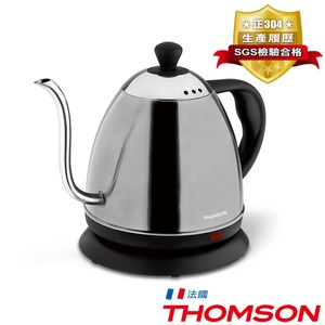 【THOMSON】 咖啡細口壺304不鏽鋼快煮壺0.8公升SA-K02