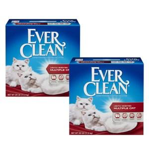 【Ever Clean】藍鑽結塊貓砂-25磅(11.3kg)X2盒-紅標