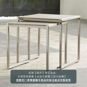 (子)Crate&Barrel Dune 戶外子母桌玻璃桌面 礫石