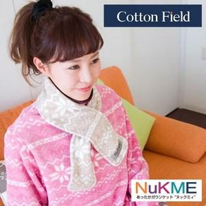 棉花田【NuKME】時尚圍脖保暖巾-29色可選象牙白
