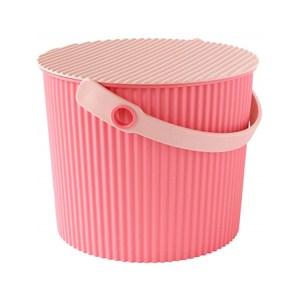 日本優秀設計獎賞HACHIMAN時尚M型8公升收納桶(粉紅色系)