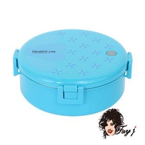 FayJ菲姐 不銹鋼保溫便當盒18cm-藍