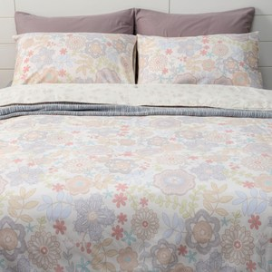 HOLA 曲蘿木棉絲涼被枕套三件組 單人