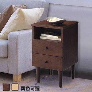 《C&B》代代木和風實用收納床邊櫃(兩色可選)胡桃木色
