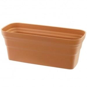 彩陶花槽-小(附底網) 紅綠混色