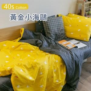 黃金小海鷗 100%精梳棉 雙人兩用被乙件   棉床本舖