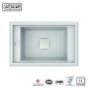 【MIDUOLI米多里】ELLECI VALUE130 玻璃結晶石水槽白色