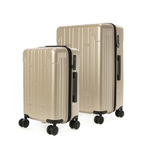 (組) 龐森可擴充行李箱20吋 香檳金+28吋 香檳金