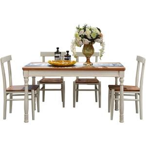 林氏木業地中海小戶型餐桌 1.4M DCT02+餐椅 DCY02 (一桌四椅)