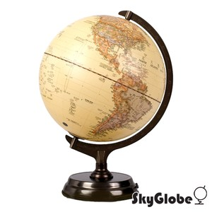 SkyGlobe12吋仿古金屬底座立體觸控式地球儀