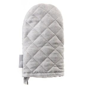 HOLA 素色織紋隔熱手套13x21cm 銀灰色