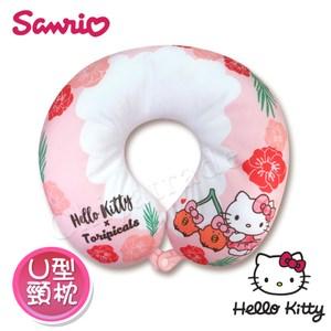 【Hello Kitty x 熱帶水果鳥】U型枕 頸枕 午安枕 抱枕