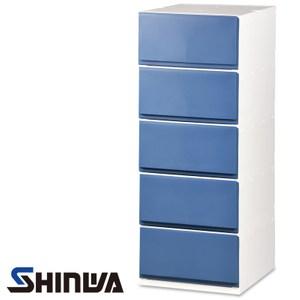 日本品牌 SHINWA 伸和 五層收納櫃 寬35公分 藍色款