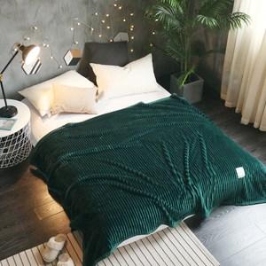 【BELLE VIE】純色華麗法蘭絨毯150X200cm-松石綠
