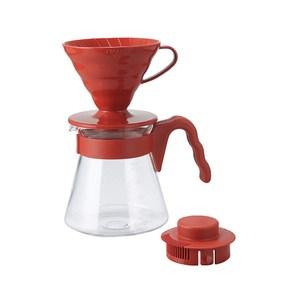 HARIO V60濾泡咖啡壺組 紅