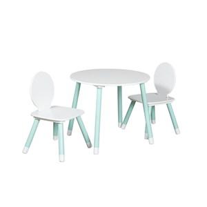 兒童實木腳一桌二椅組