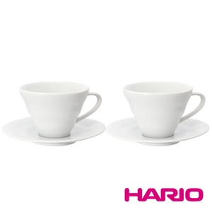HARIO V60白色雲朵咖啡杯盤組2入 CCS-5012W 單一規格