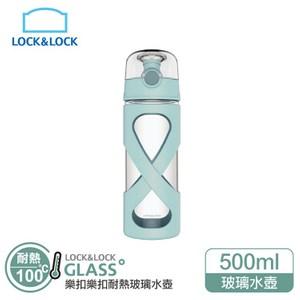 樂扣樂扣500ml馬卡龍耐熱玻璃水壺-薄荷綠LLG648MIT薄荷綠