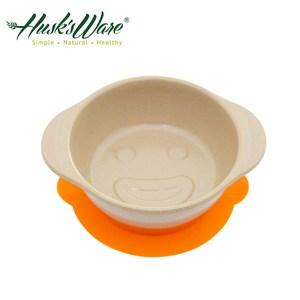 美國Husk's ware稻殼天然無毒環保兒童微笑餐碗(橘色)