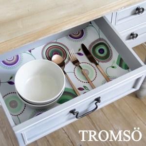TROMSO北歐防滑餐櫥抽屜墊-繽紛花園綠