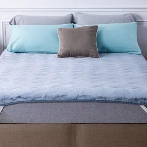 HOLA 發熱法蘭絨防靜電兩用保暖墊 加大 藍