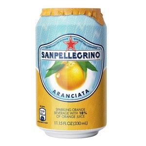 (組)義大利聖沛黎洛氣泡水果水甜橙口味330ml 24入組