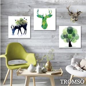 TROMSO時尚無框畫/綠鹿森林