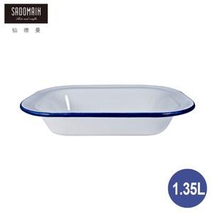 【仙德曼 SADOMAIN】琺瑯鄉村風-方餐盤1.35L1.35L